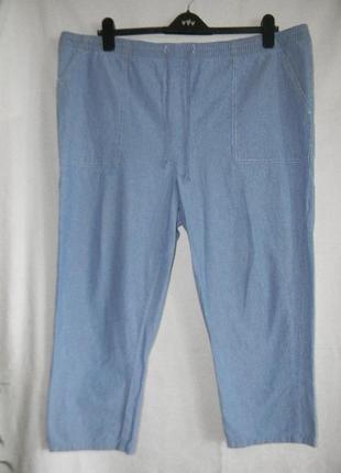 Легкие джинсы большого размера