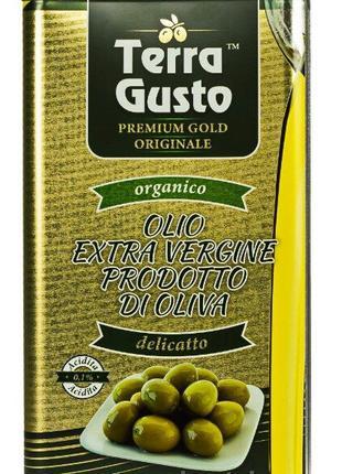 Масло оливковое «TERRA GUSTO» Gold (Де Олива). Италия. 5л.