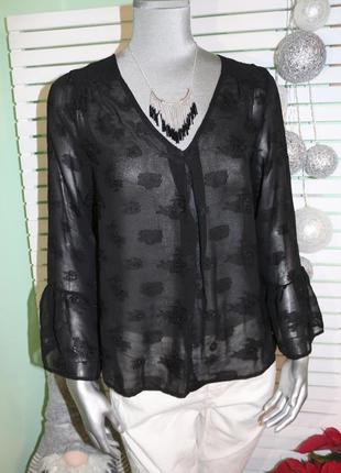 Черная блуза mint & berry