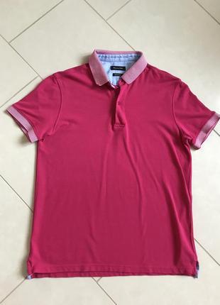 Поло мужская стильная модная дорогой бренд massimo dutti размер m
