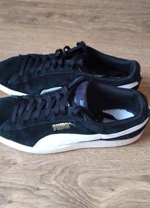 Замшевые кроссовки макасины оригинал  puma
