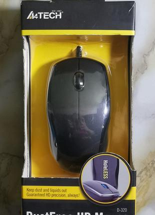Мышь компьютерная с защитой от пыли A4Tech D-320