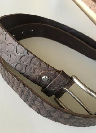 Ремень мужской кожаный стильный модный дорогой бренд