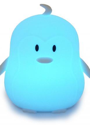 Силиконовый ночник детский Click Пингвин ночные зверята 12 см