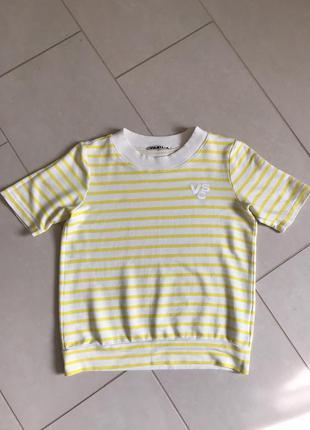 Блуза футболка стильная модная дорогой бренд vanilia размер 36