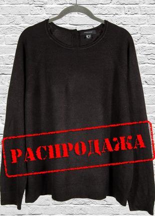 Черный свитер оверсайз, объемный свитер женский