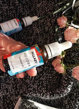 Натуральное масло для лица и волос hillary jojoba oil