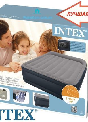 Надувная кровать со встроиным насосом Intex 64136