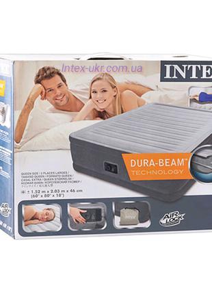 Надувная кровать Intex 64414 со встроенным насосом 220V, 203 х...