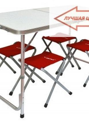 Туристический стол + 4 стула, складные стулья, подарок для тур...
