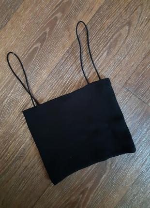 Черный топ от бренда zara