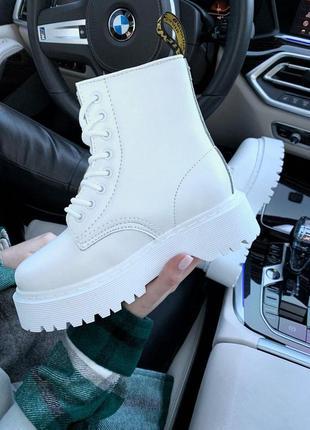 Распродажа! женские зимние кожаные ботинки/ сапоги dr martens ...
