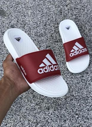Женские летние сланцы-шлепанцы-шлепки адидас, adidas white red...