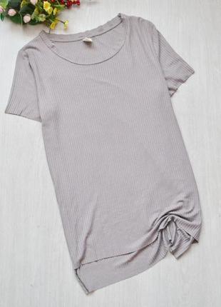 Удлиненная футболка с разрезами асимметричной длиной zebra в р...