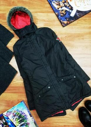 Подростковая трендовая куртка - парка y.f.k еврозима для девоч...