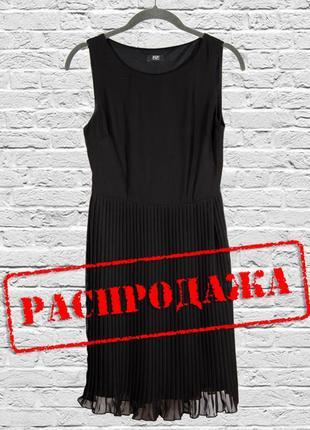Черное платье миди с плиссировкой, классическое платье миди из...