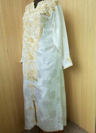 Длинное платье рубаха с вышивкой / джаллаба / галабея / абая