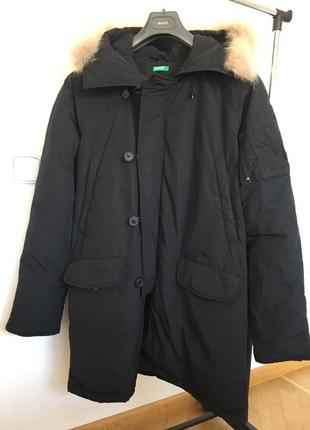 Куртка мужская теплая зимняя с капюшоном пуховик united colors...