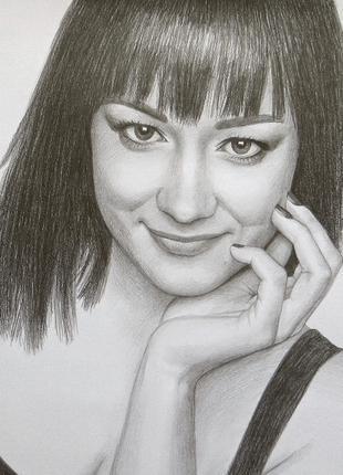 Портрет на заказ по фото карандашом или пастелью