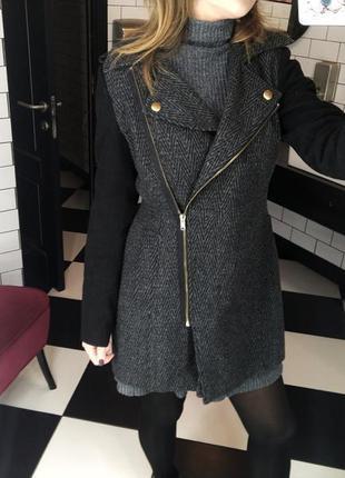 Женское теплое шерстяное пальто seppala