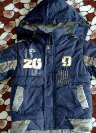 Зимняя курточка на мальчика 3-5 лет