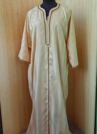 Длинное марокканское платье рубаха / джаллаба / галабея высокий р