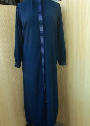 Длинное платье рубашка с вышивкой / для кормящих / абая