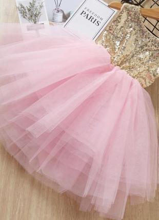 Платье нарядное паетки фатин