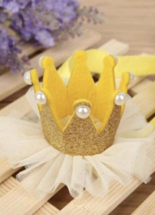 Повязка на голову корона
