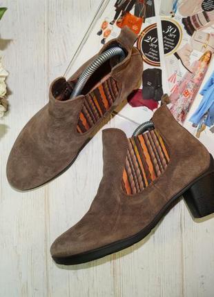 🌿38🌿think! замша! оригинал! фирменные ортопедические ботинки -...