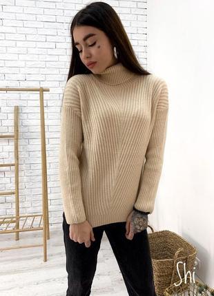 Гольф свитер с высоким горлом