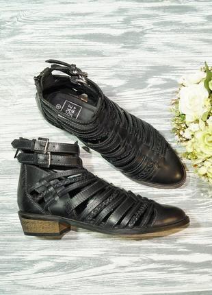 🌿38🌿sole diva. кожа. фирменные стильные ботинки с ремешками, б...