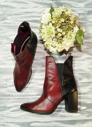 🌿38🌿tamaris. кожа. стильные ботинки на удобном каблучке