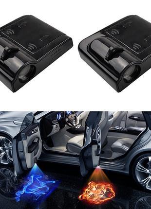 Светодиодный проектор для двери автомобиля. Синий цвет