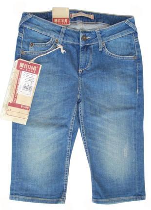 Джинсовые женские шорты удлиненные бренд mustang германия р. 2...
