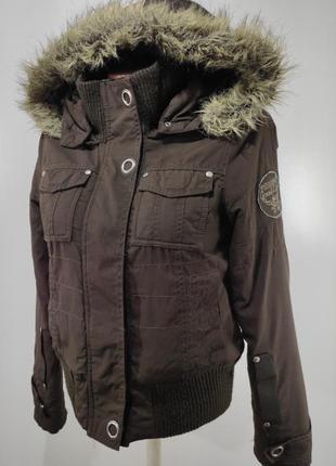 Зимняя куртка на флисе only размер s-м
