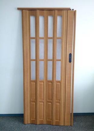 Акция. Двери гармошка под стекло 860х2003. Доставка
