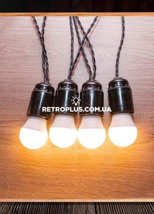 Ретро Гирлянда Эдисона с лампами 3Вт (теплый свет) - гірлянда