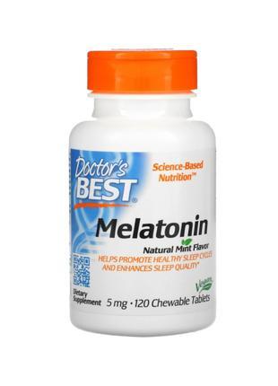 Doctor´s Best, мелатонин, натуральная мята, 5 мг, 120 таблеток