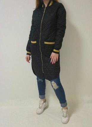 Пальто стеганное черного цвета imperial