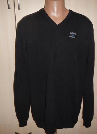 Шерстяной свитер cutter&buck p.xl пуловер кофта