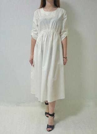 Платье котоновое с завышенной талией италия