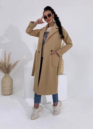 Пальто пальтишко с поясом кашемировое осеннее весеннее на осен...