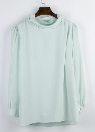 Винтажная блузка с объемными плечами, ретро блузка с широкими ...