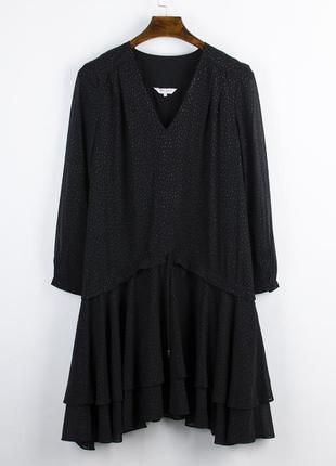 Нарядное платье миди, свободное платье в ретро стиле, винтажно...