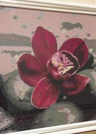 """Картина """"Орхидея на камнях"""""""