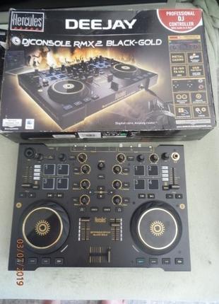 Продам микшерный пульт Hercules RMX2 black -gold