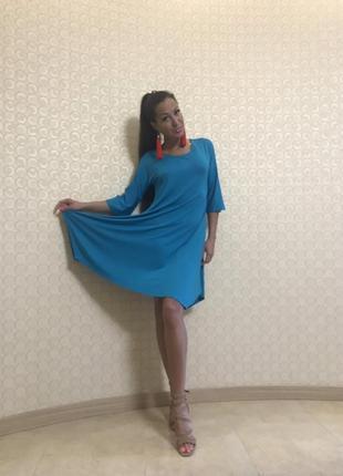 Платье бирюзового цвета paquito, италия