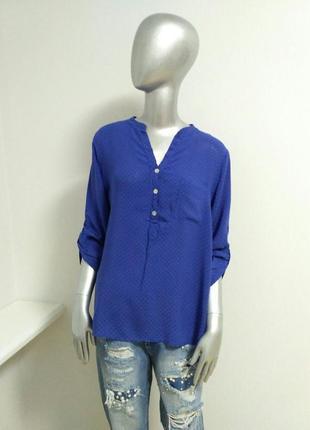 Итальянская рубашка синего цвета в сердечки