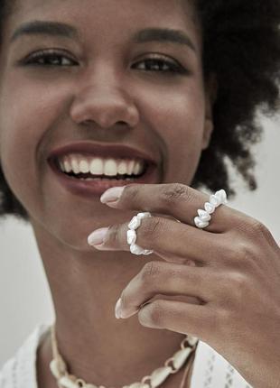 Набор колец, эластичное женское кольцо с искусственным жемчугом